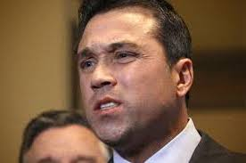 Grimmace: The painful look on the face of Congressman Grimm.